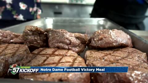 Notre Dame players get world class victory dinners